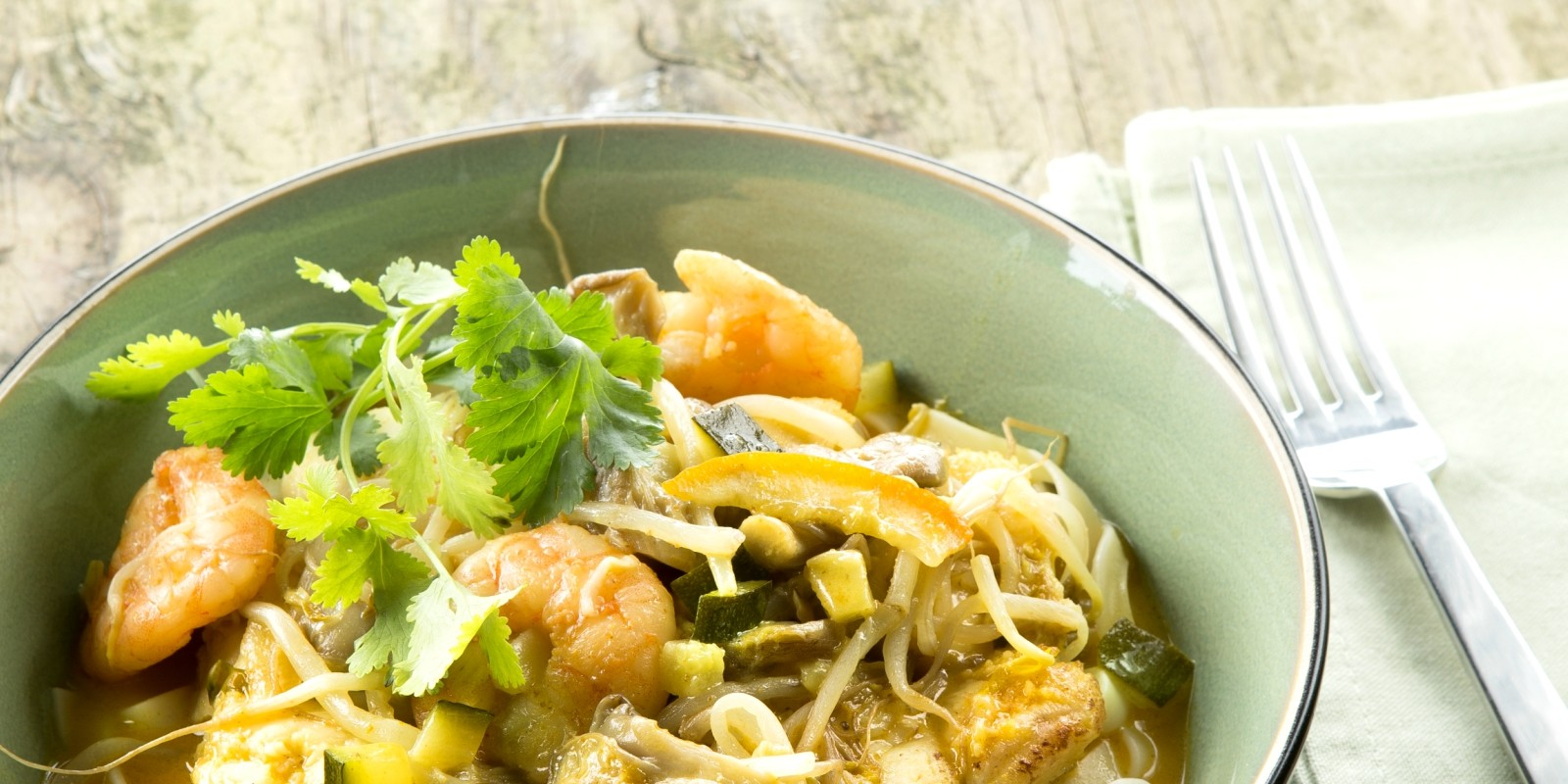 Belbery: Thai prawn and angler fish stew